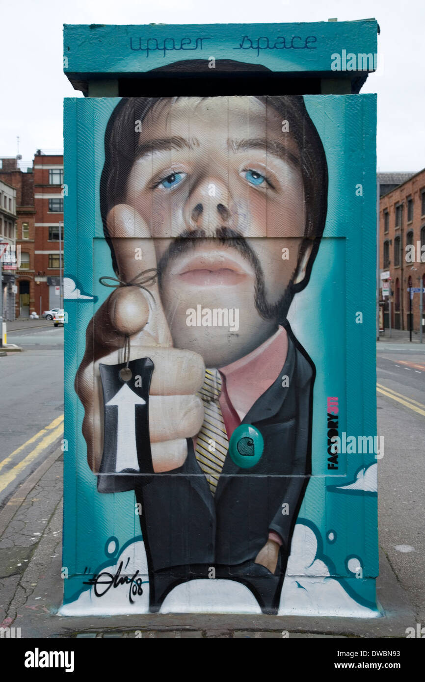 Urban art in the Northern Quarter of Manchester Stock Photo