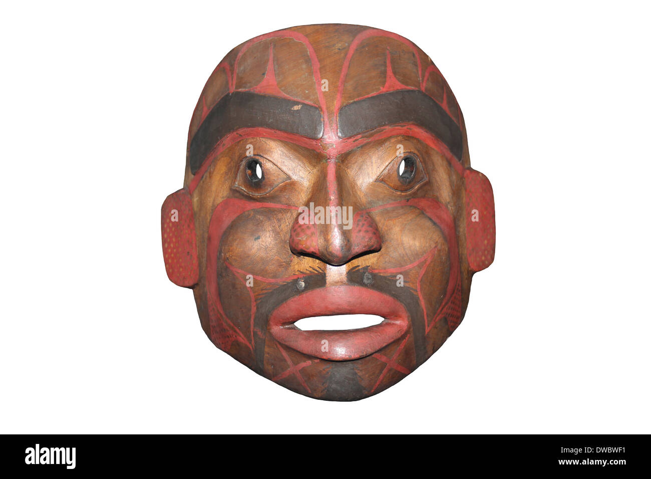 Haida Mask, an indigenous people of the Pacific Northwest Coast of North America - Stock Image