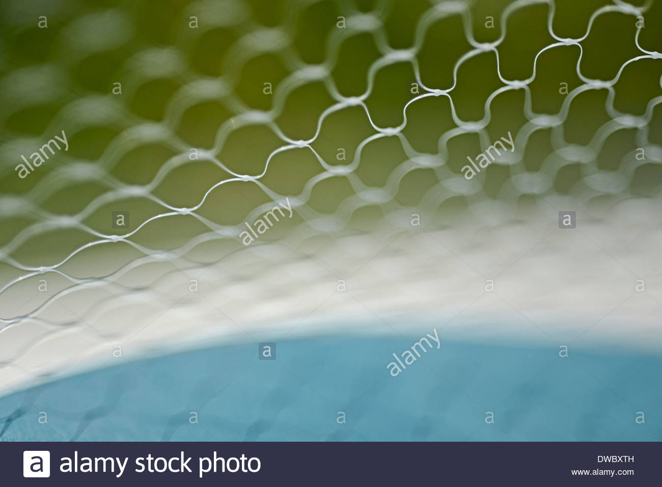 Selective focus of wire mesh Stock Photo