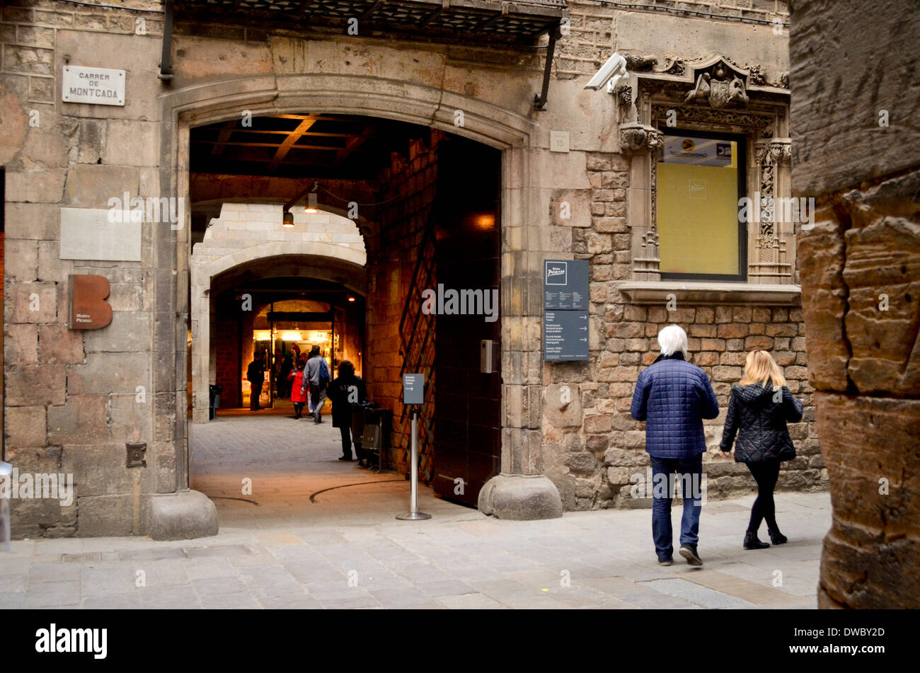 Picasso Museum, Barcelona, Catalonia, Spain. - Stock Image