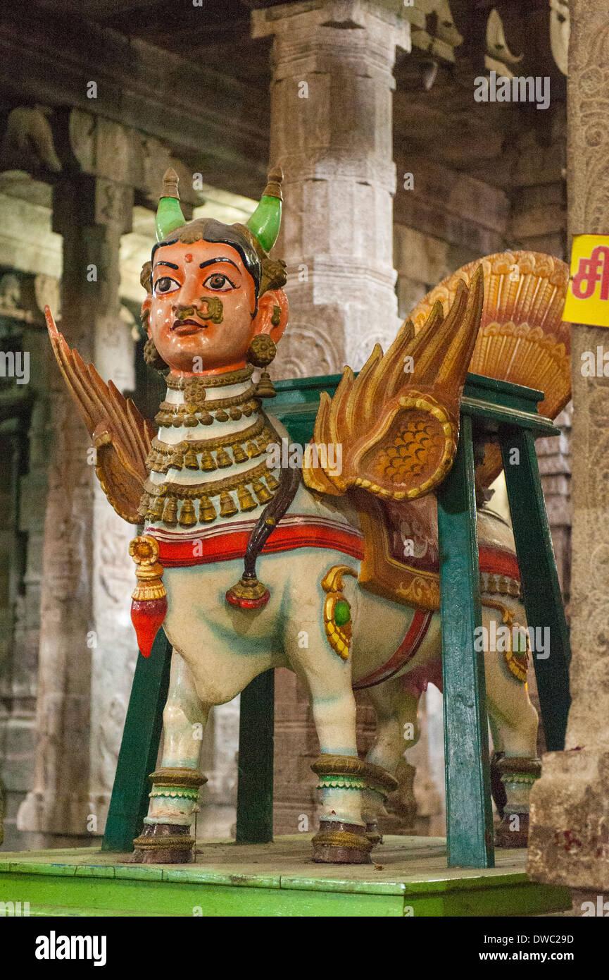 India Tamil Nadu Kanchipuram Sri Ekambaranathar Ekambareswarar Temple Temples Shiva Hindu 6th century float parade Stock Photo