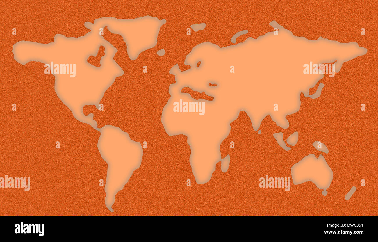 World Map Stencil Stock Photo 67263421 Alamy