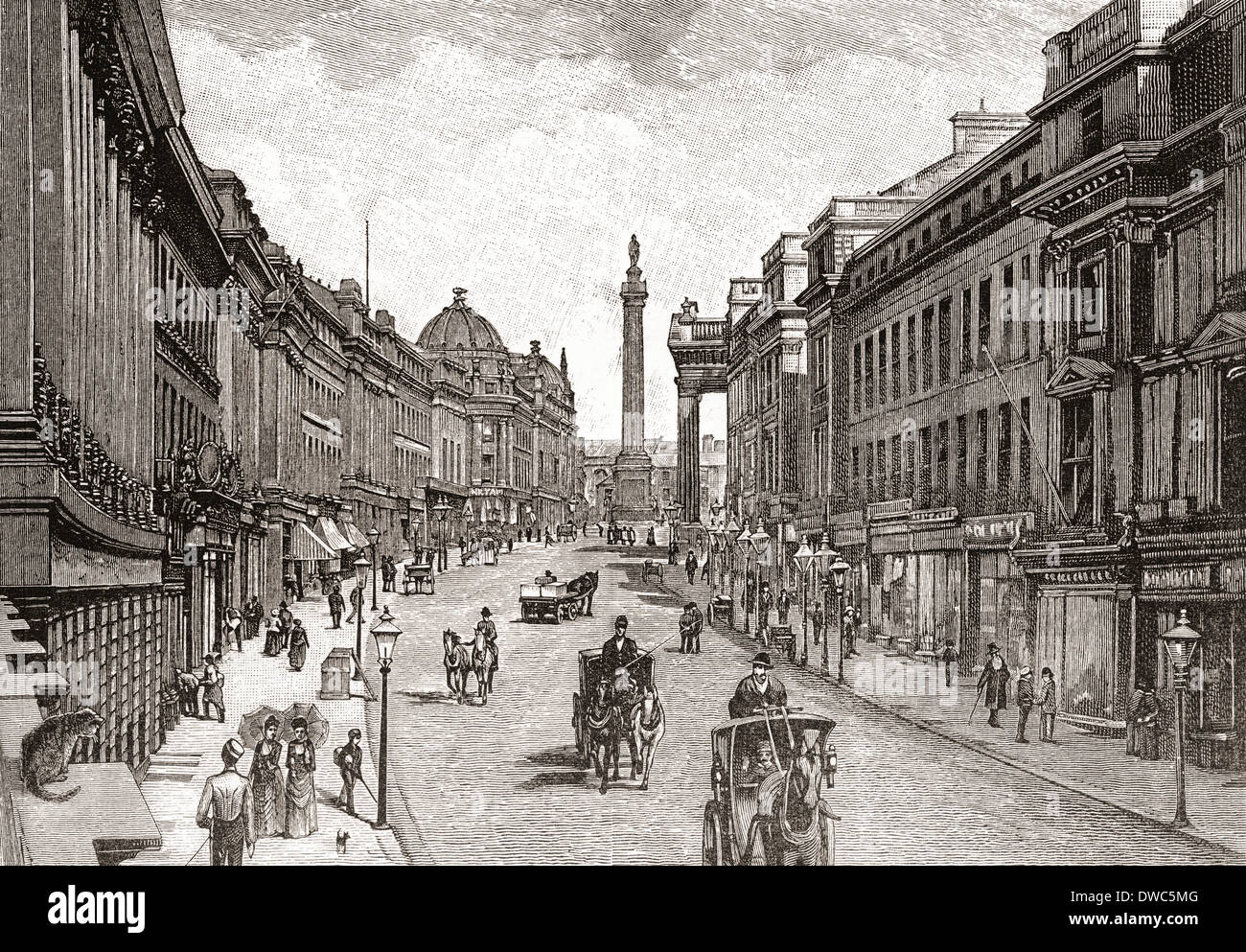 Grey Street Newcastle Upon Tyne England In The 19th Century