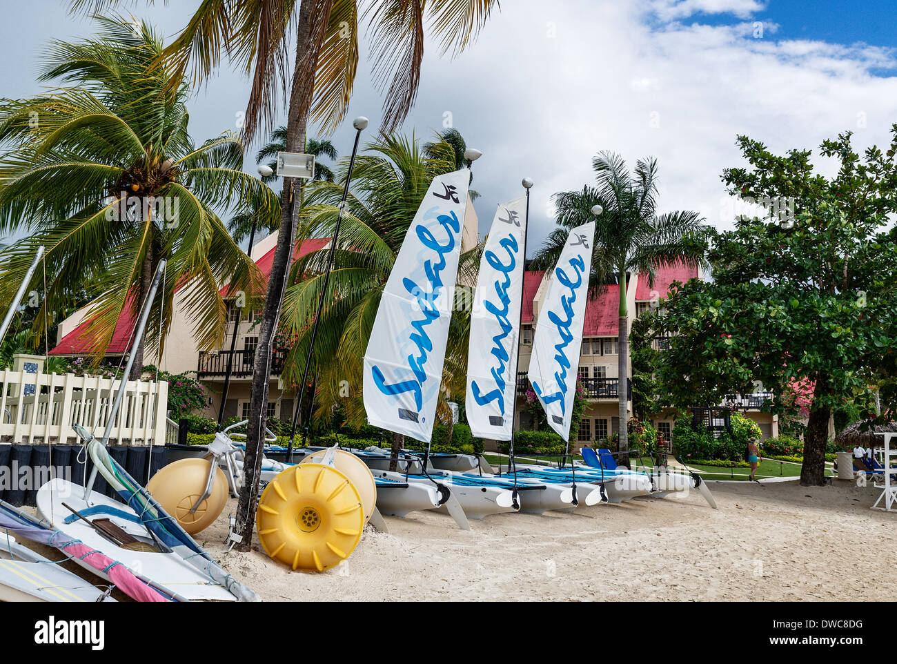 Sandals hotel and resort, Negril, Jamaica - Stock Image
