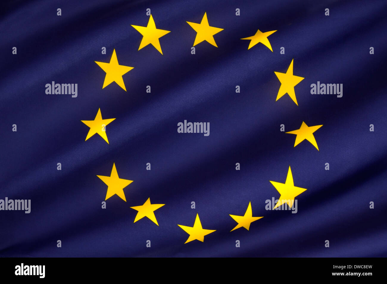 Flag of Europe - European Flag - Stock Image