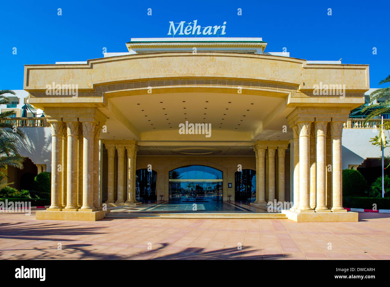 North Africa, Tunisia, Cape Bon, Hammamet. The Méhari luxury hotel. - Stock Image
