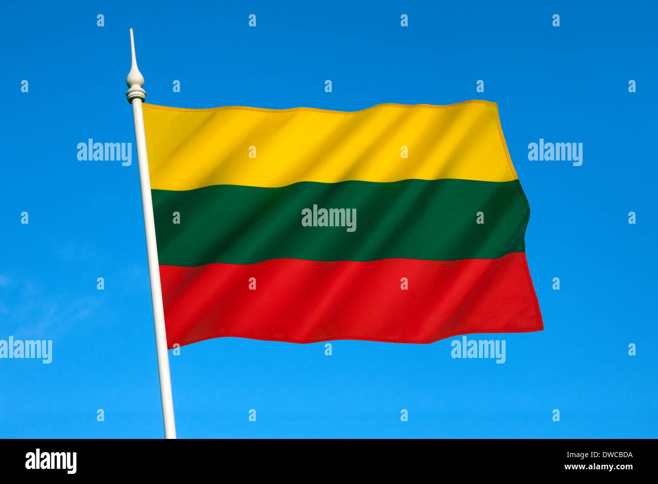 Flag of Lithuania - Stock Image
