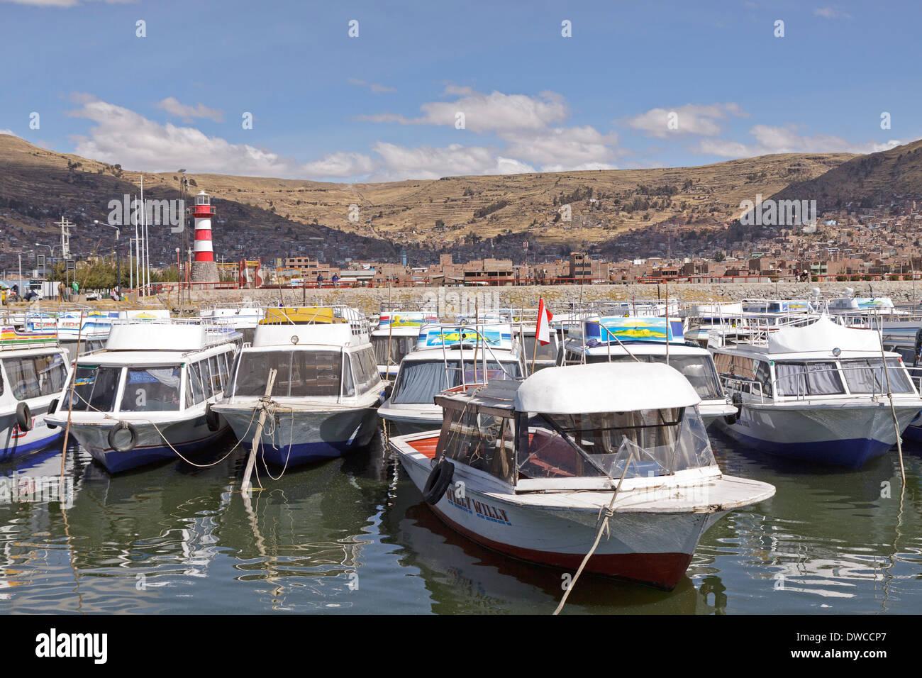 marina of Puno, Peru, South America - Stock Image