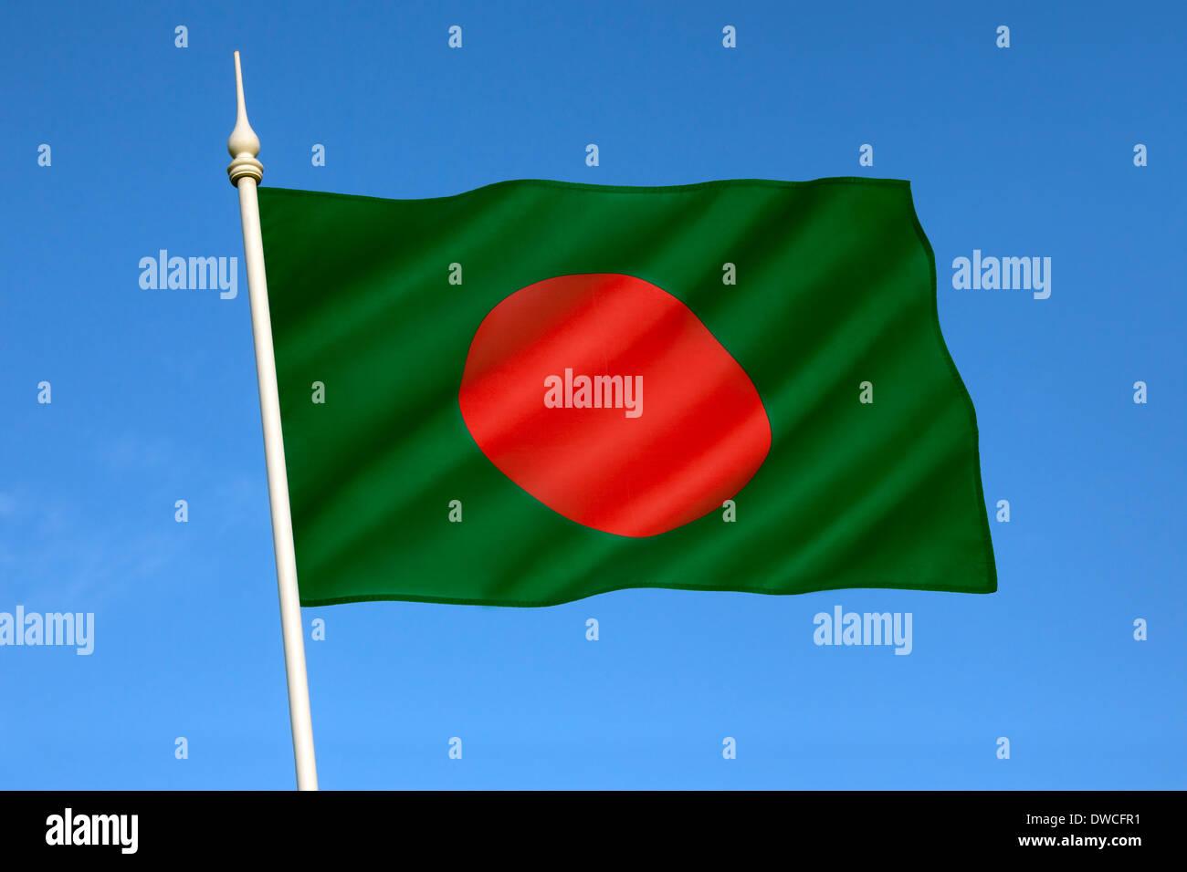 Flag of Bangladesh - Stock Image