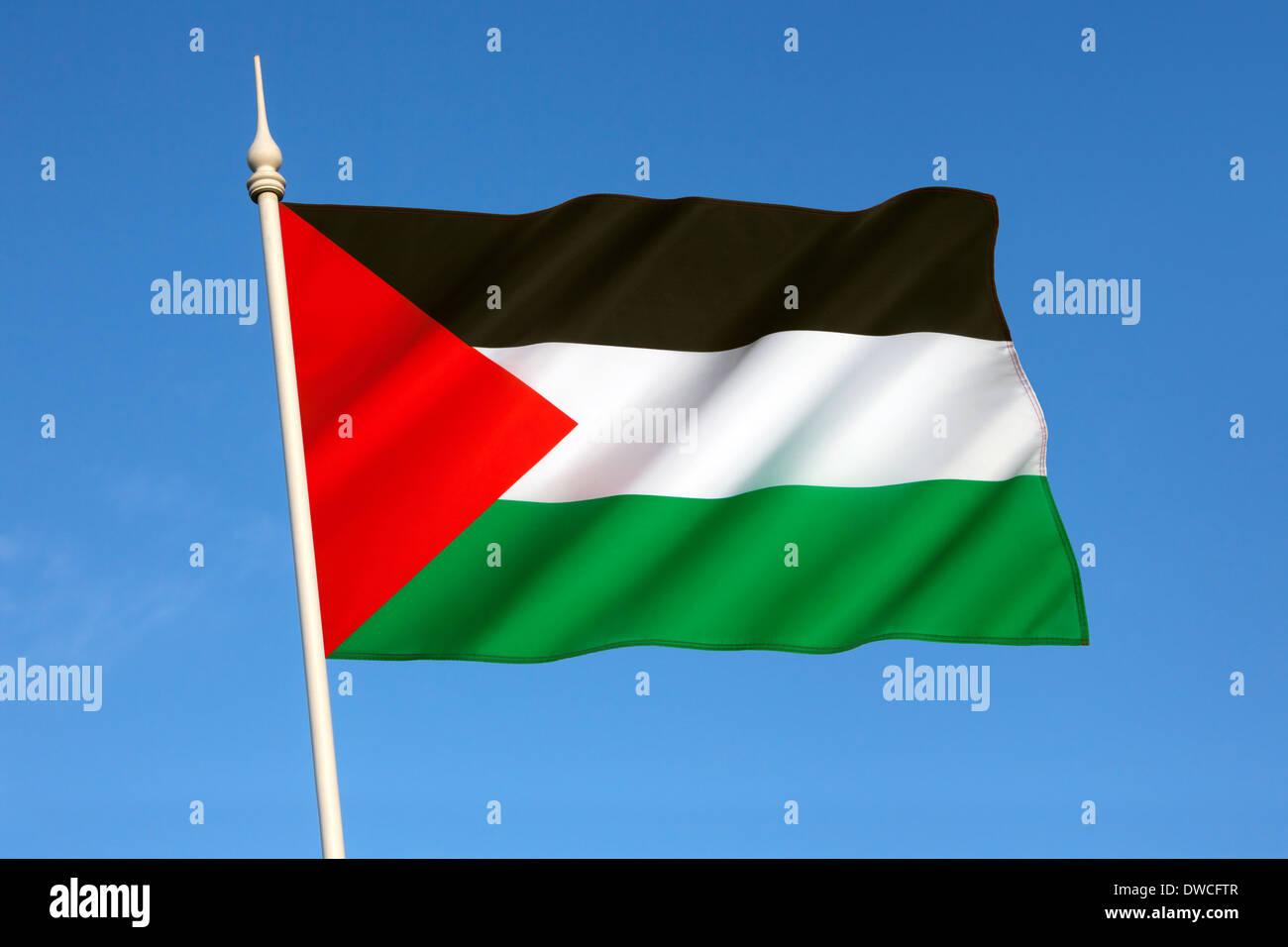 Flag of Palestine - Stock Image