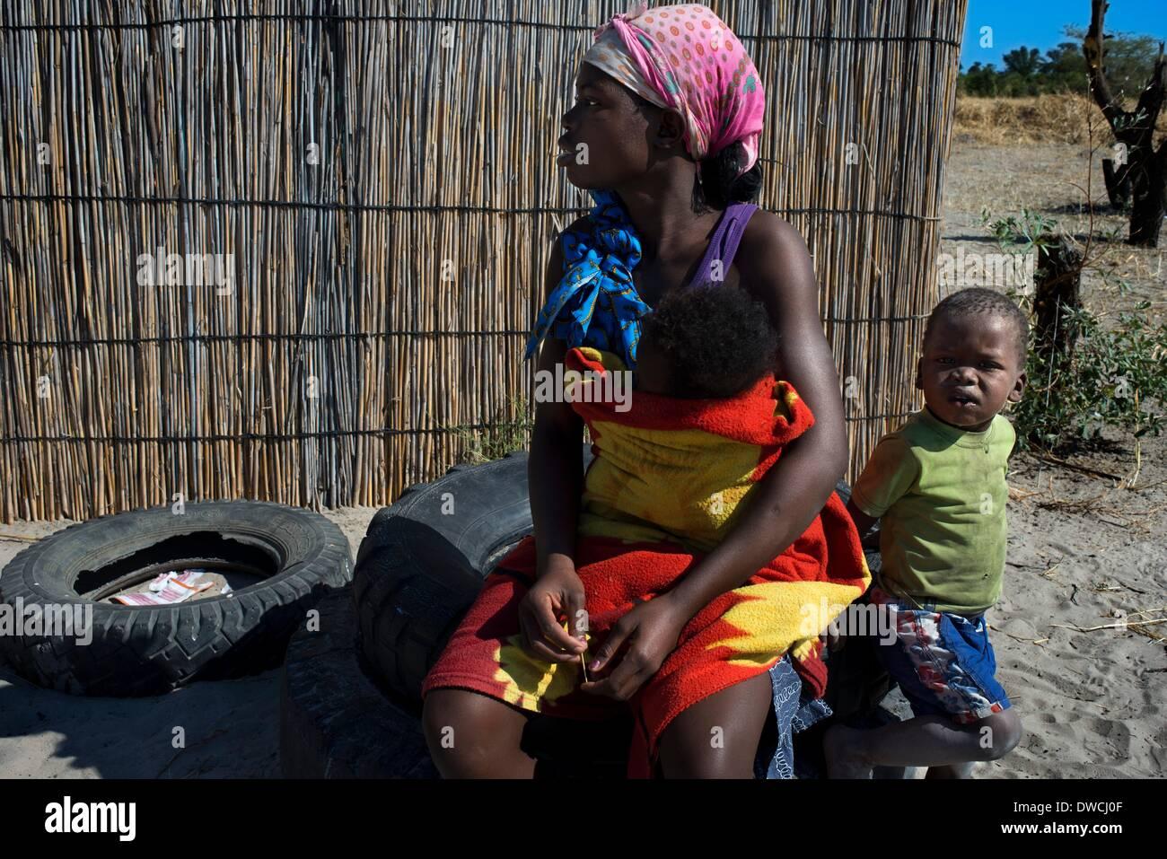 Mann Frau wilde Botswana