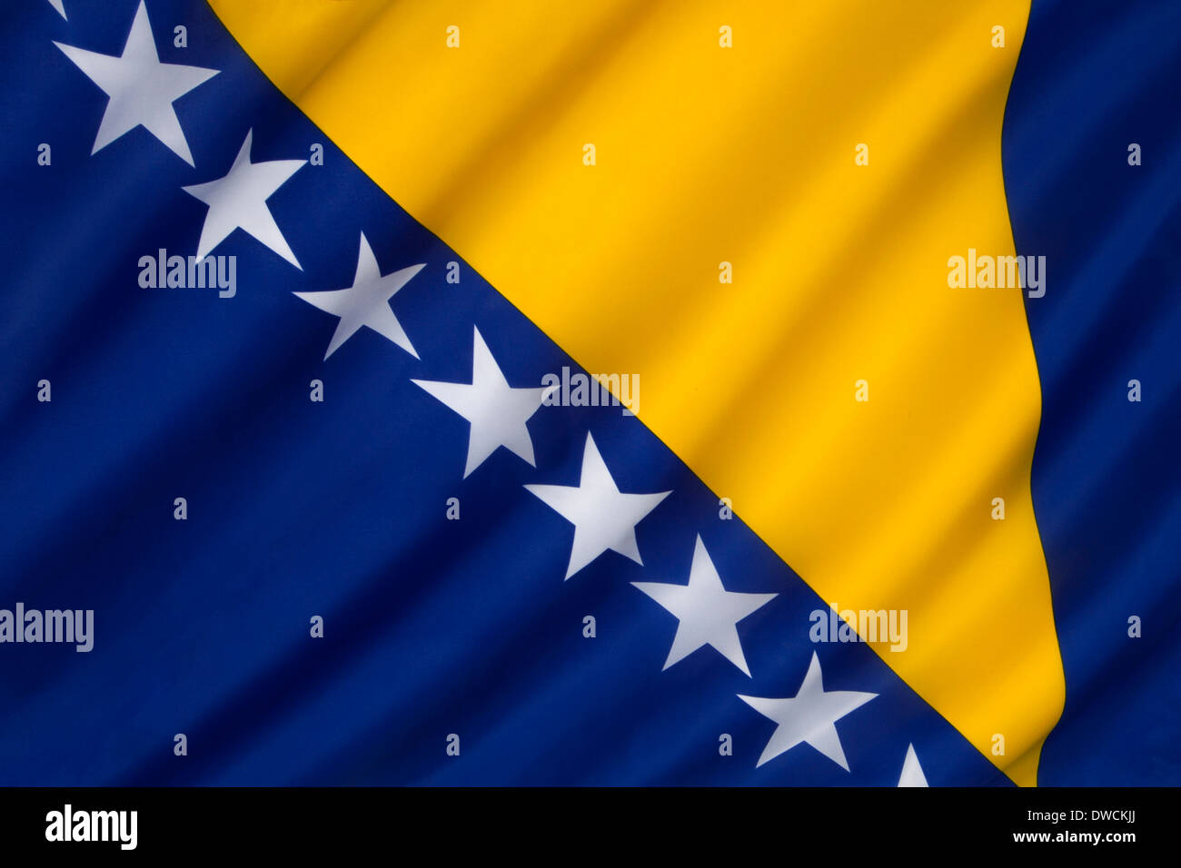 Flag of Bosnia and Herzegovina Stock Photo