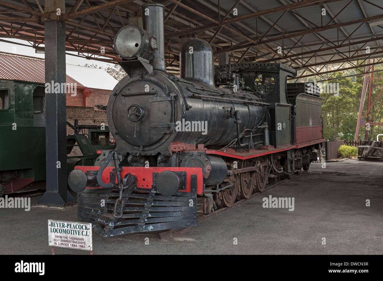 Beyer-Peacock Locomotive Zeehan Tasmania Australia - Stock Image