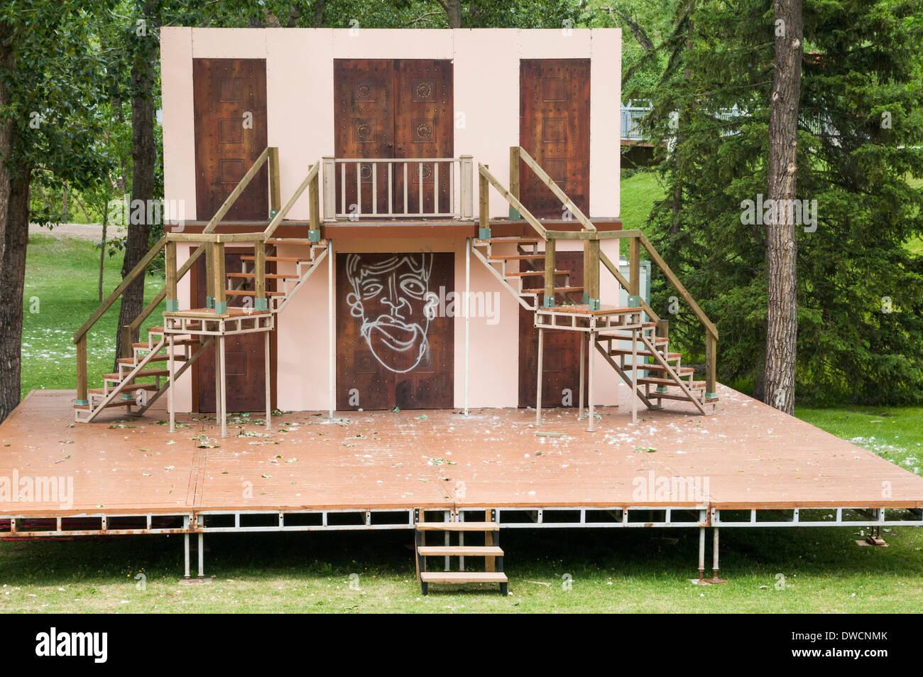 Theater stage, Prince's Island Park, Calgary, Alberta, Canada - Stock Image