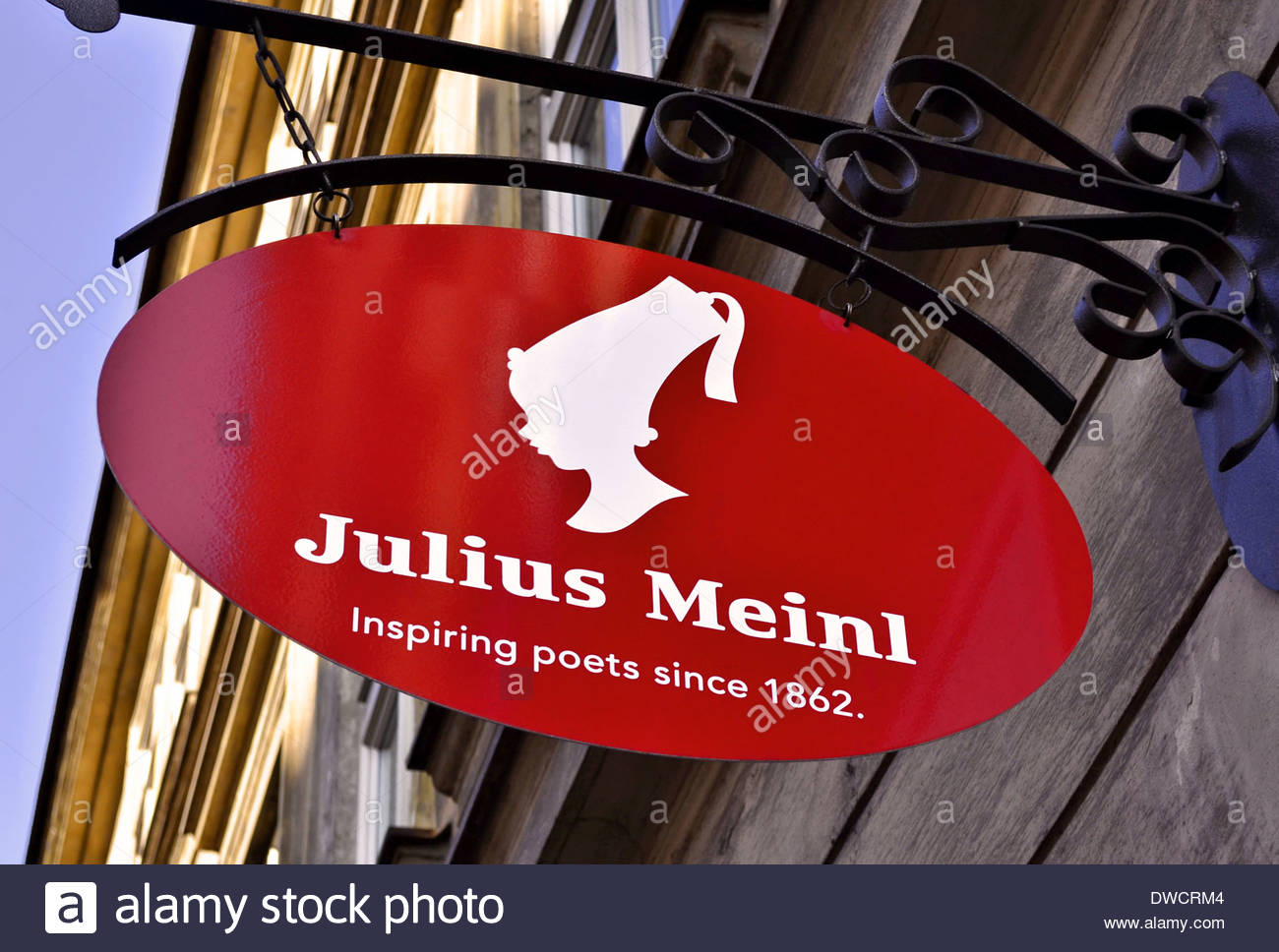 Julius Meinl - Austrian coffee and gourmet products manufacturer logo sign - Stock Image