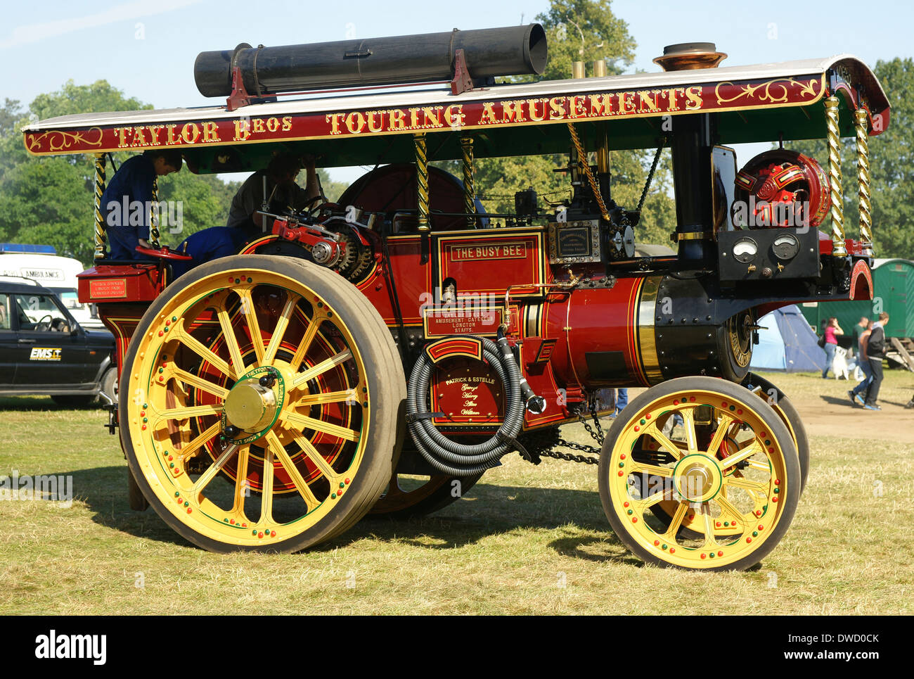 The Busy Bee Burrell of Thetford 1914 steam showmans road locomotive traction engine AO6262 3555 - Stock Image