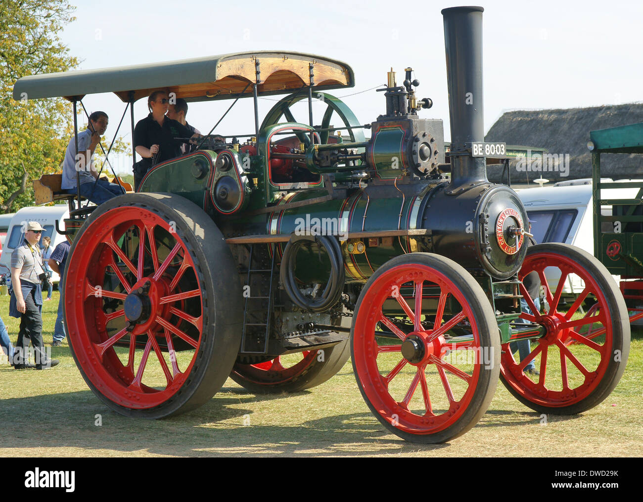 1910 Clayton & Shuttleworth General Purpose Engine steam traction engine No. 43200 BE8003 The Gaffer - Stock Image