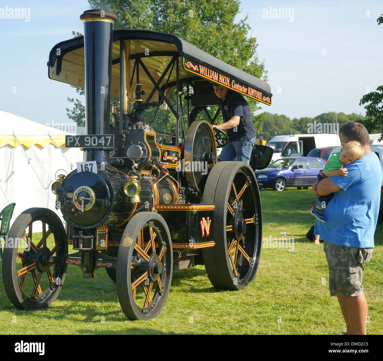 1928 PX9047 John Fowler class T3B steam tractor 17470 Bonnie Lass William Nicol Kintore - Stock Image