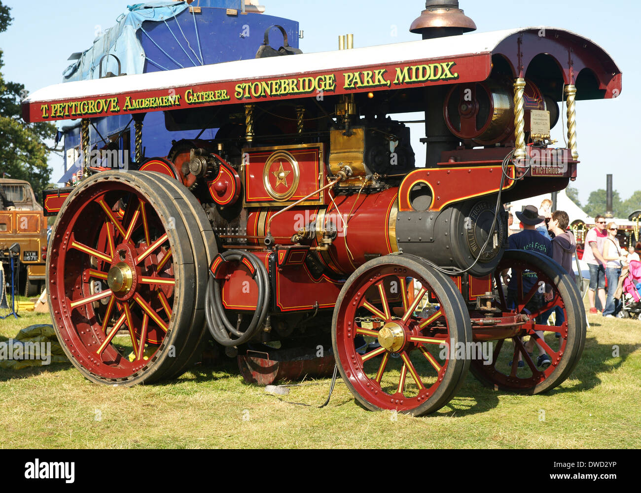 1920 Steam traction engine built by William Foster of Lincoln called Victorious which is a  Showmans road locomotive No. 14501 - Stock Image