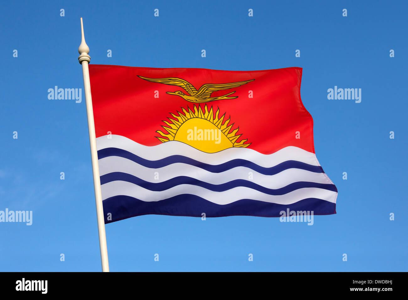Flag of Kiribati - South Pacific. - Stock Image