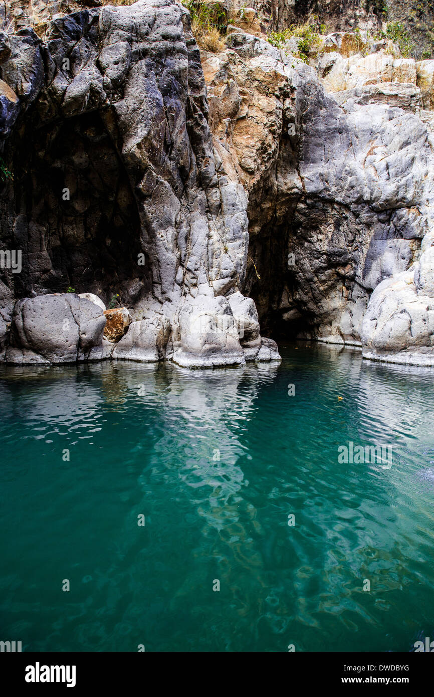 river in Somoto Canyon, Nicaragua - Stock Image