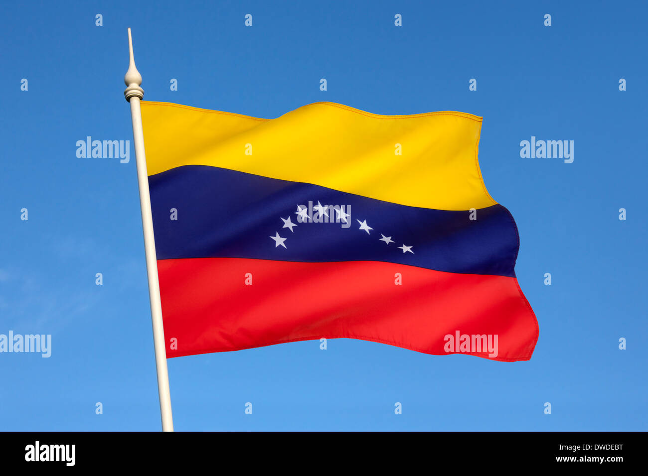 Flag of Venezuela - South America - Stock Image