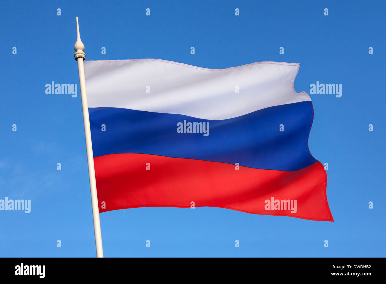 State flag of the Russian Federation. - Stock Image