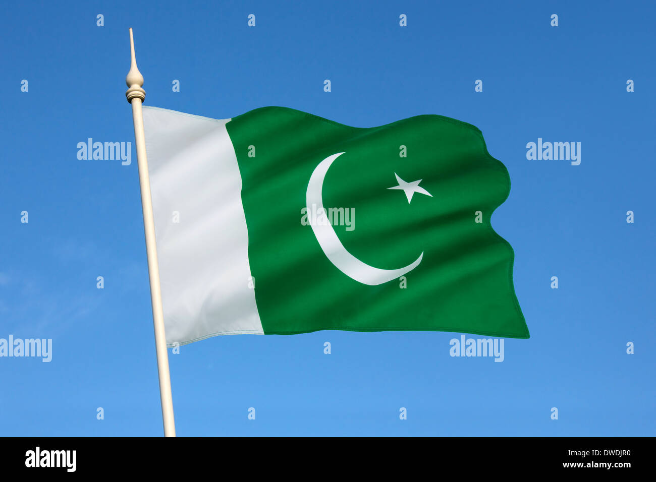 Flag of Pakistan - Stock Image