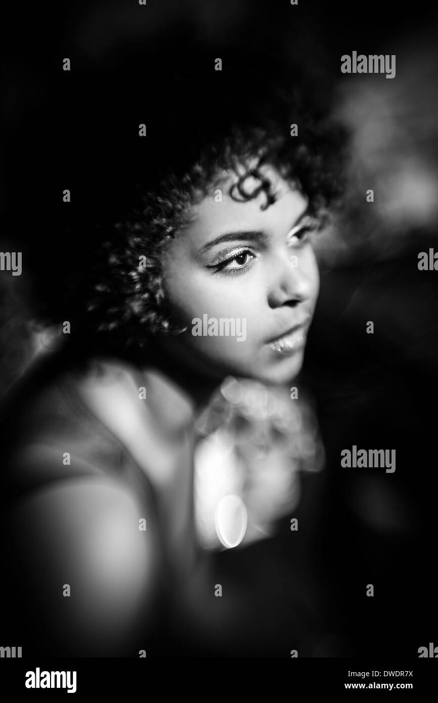 Portrait of female Afro-American - Stock Image