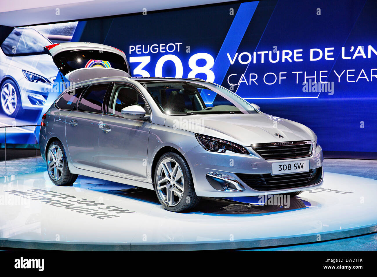 Peugeot 308 SW - Stock Image