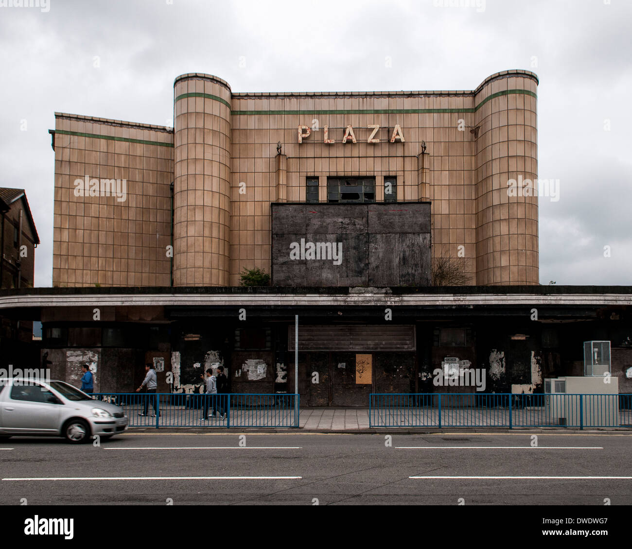 Port Talbot, Port Talbot, United Kingdom. Architect: Various, 2014. Derelict Plaza cinema. Stock Photo