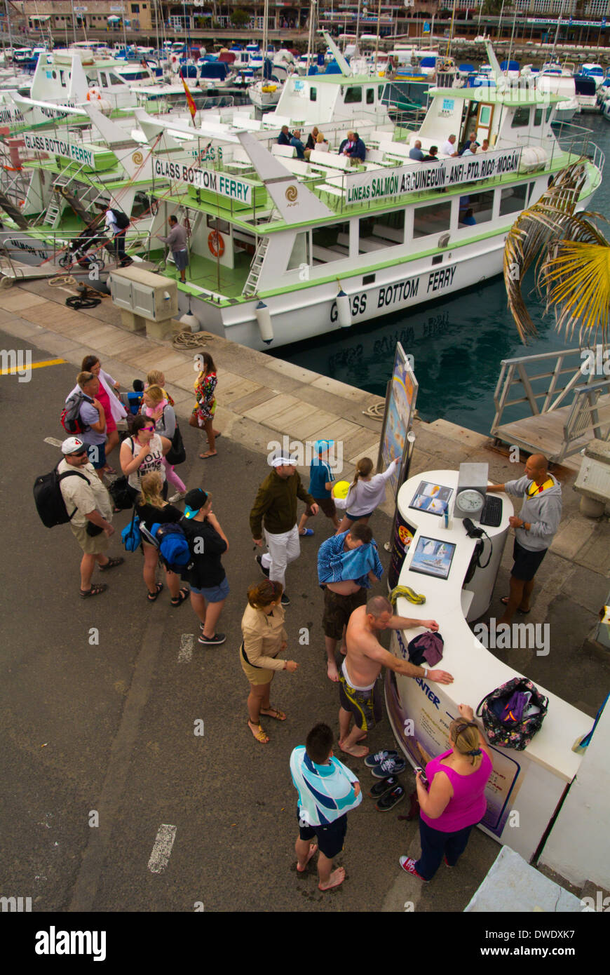 Watersports center, Puerto the port, Puerto Rico, Gran Canaria island, the Canary Islands, Spain, Europe - Stock Image
