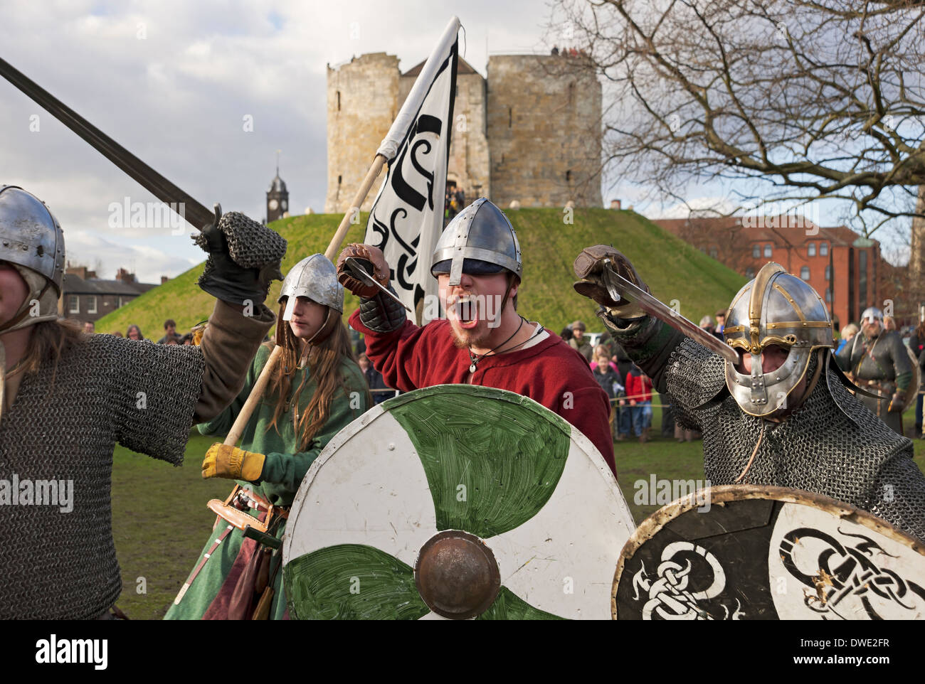Viking Festival York North Yorkshire England UK United Kingdom GB Great Britain - Stock Image
