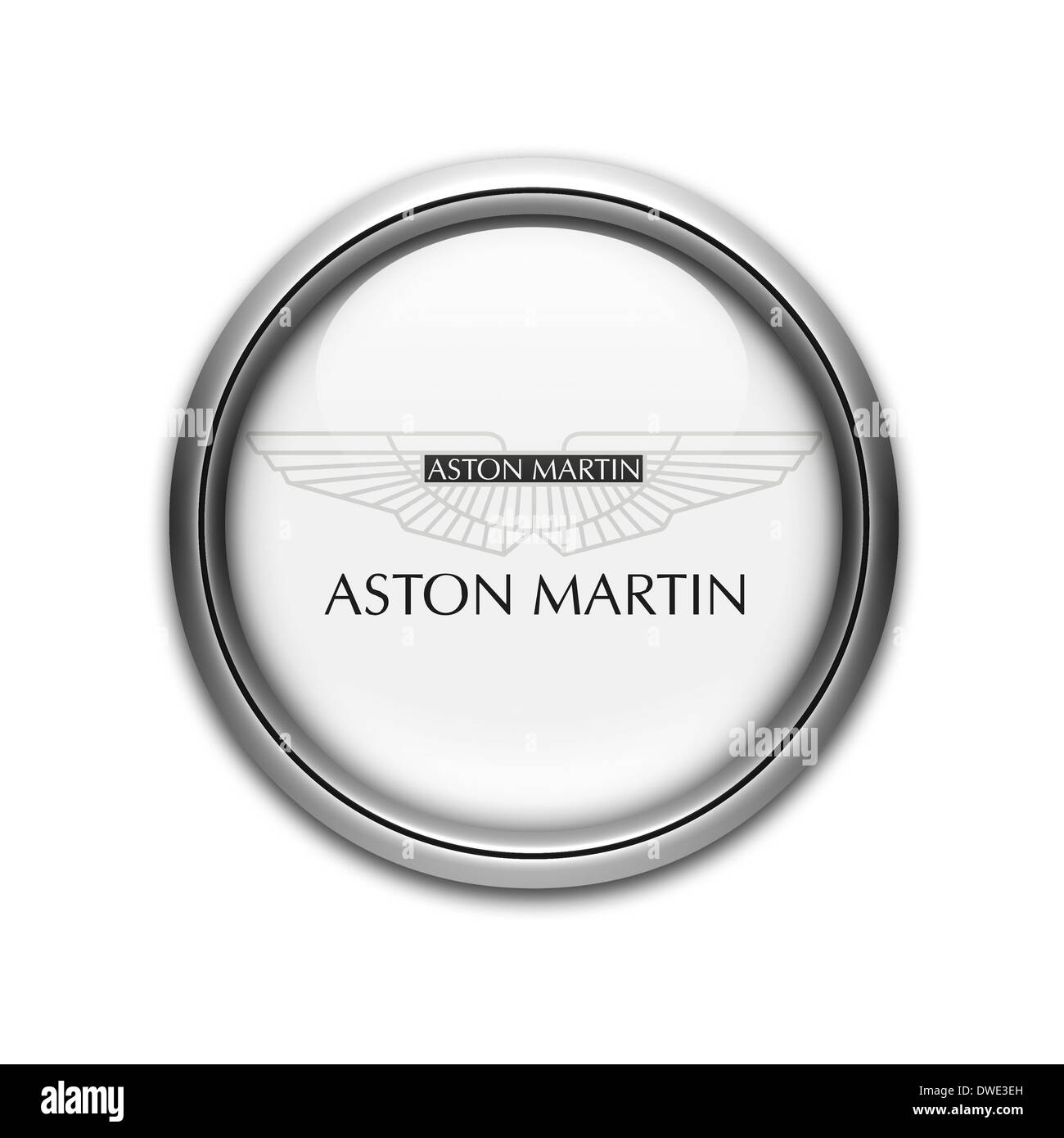 Aston Martin Logo Symbol Icon Black And White Stock Photos Images
