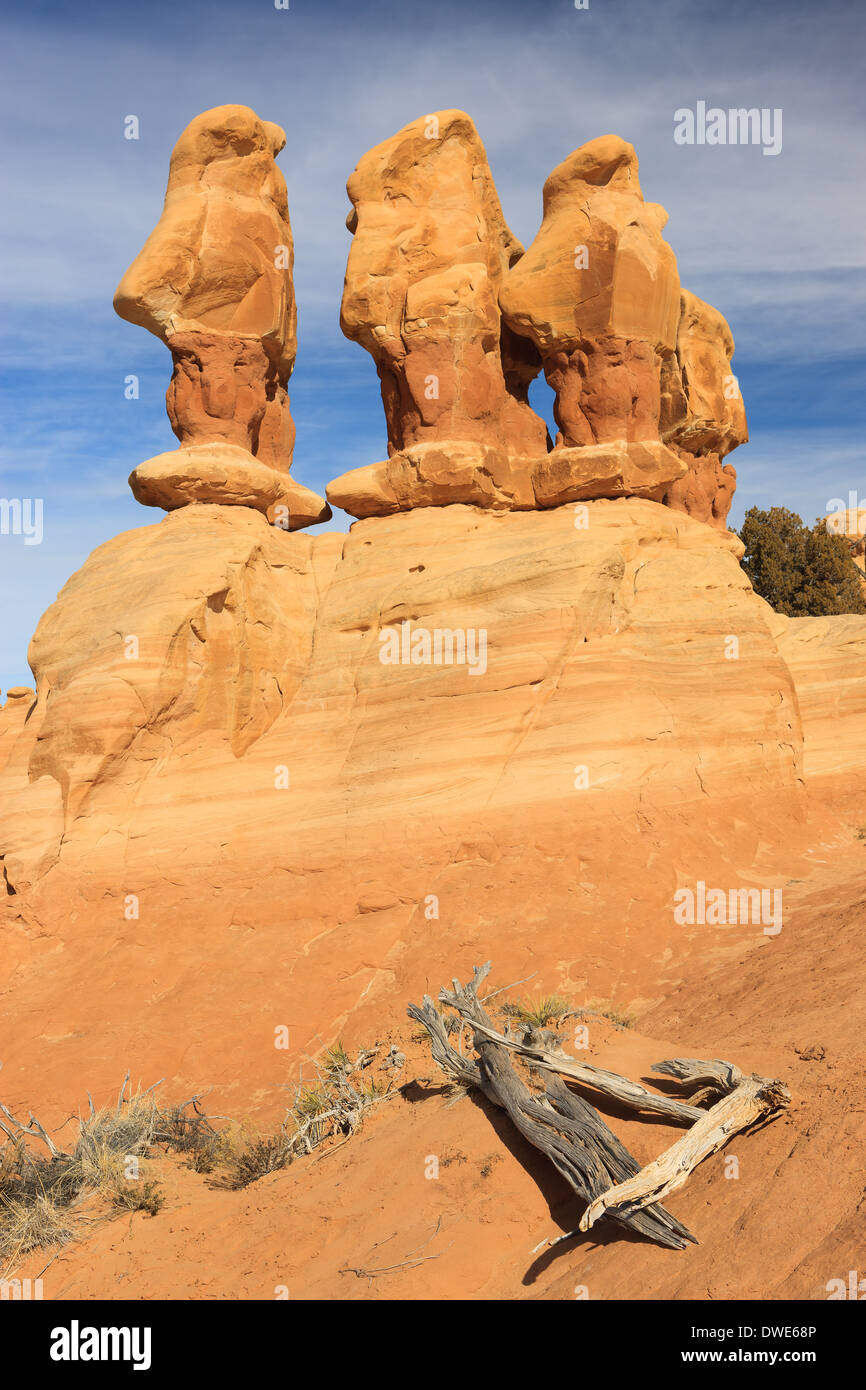 The Devil's Garden of the Grand Staircase-Escalante National Monument (GSENM) in south central Utah, the United States - Stock Image