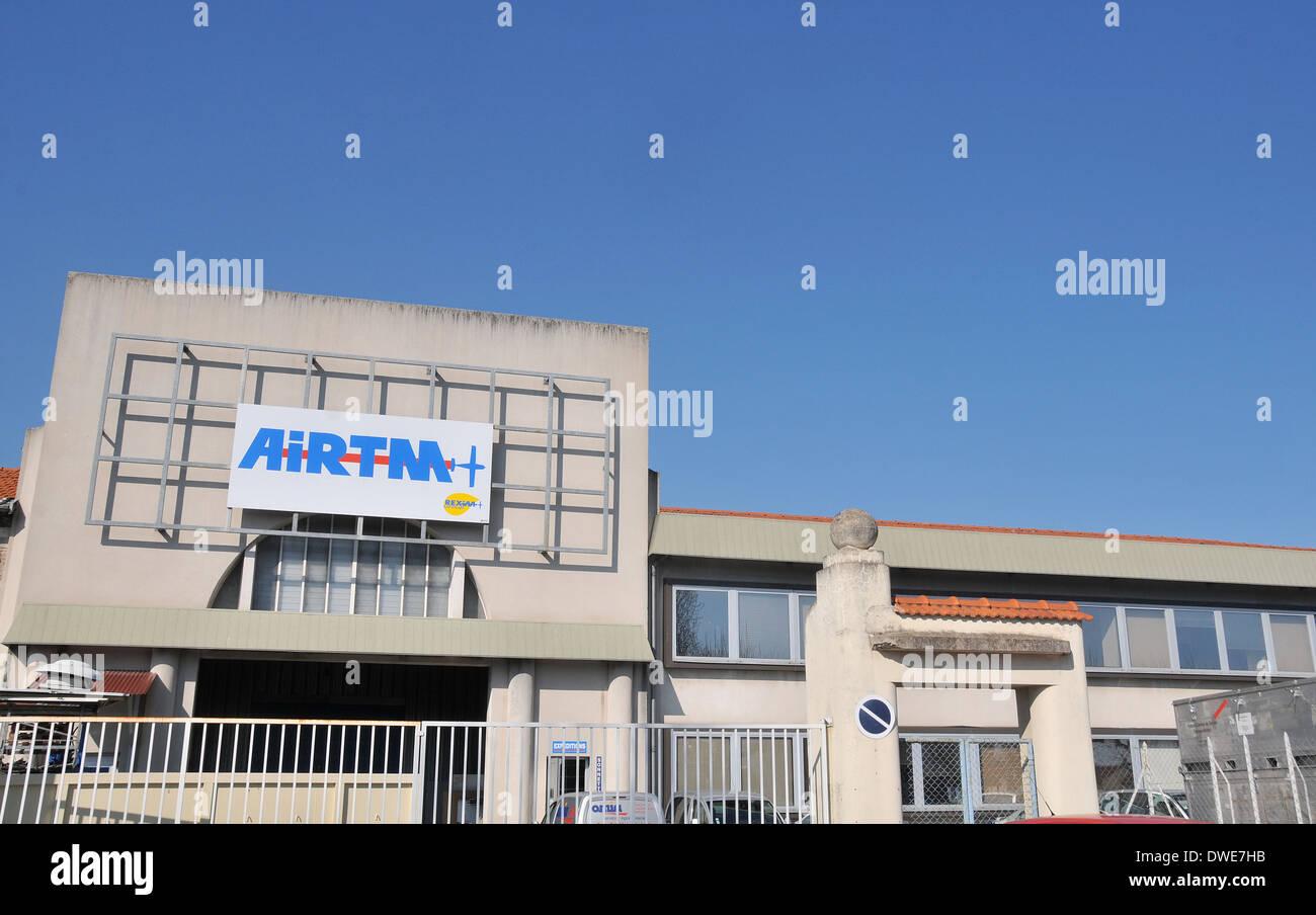 AIRTM factory Issoire Puy-de-Dome Auvergne Massif-Central France - Stock Image