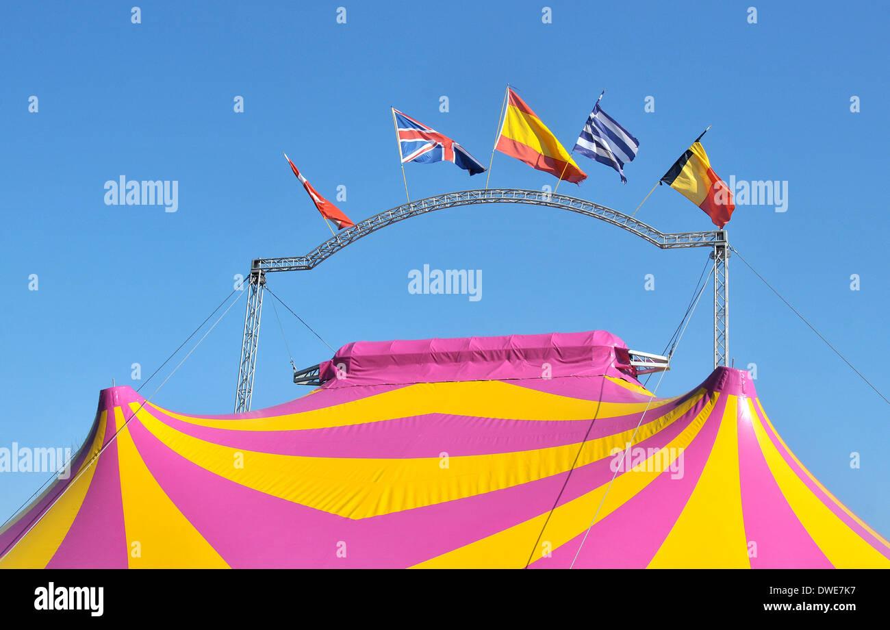 circus Issoire Puy-de-Dome Auvergne Massif-Central France - Stock Image