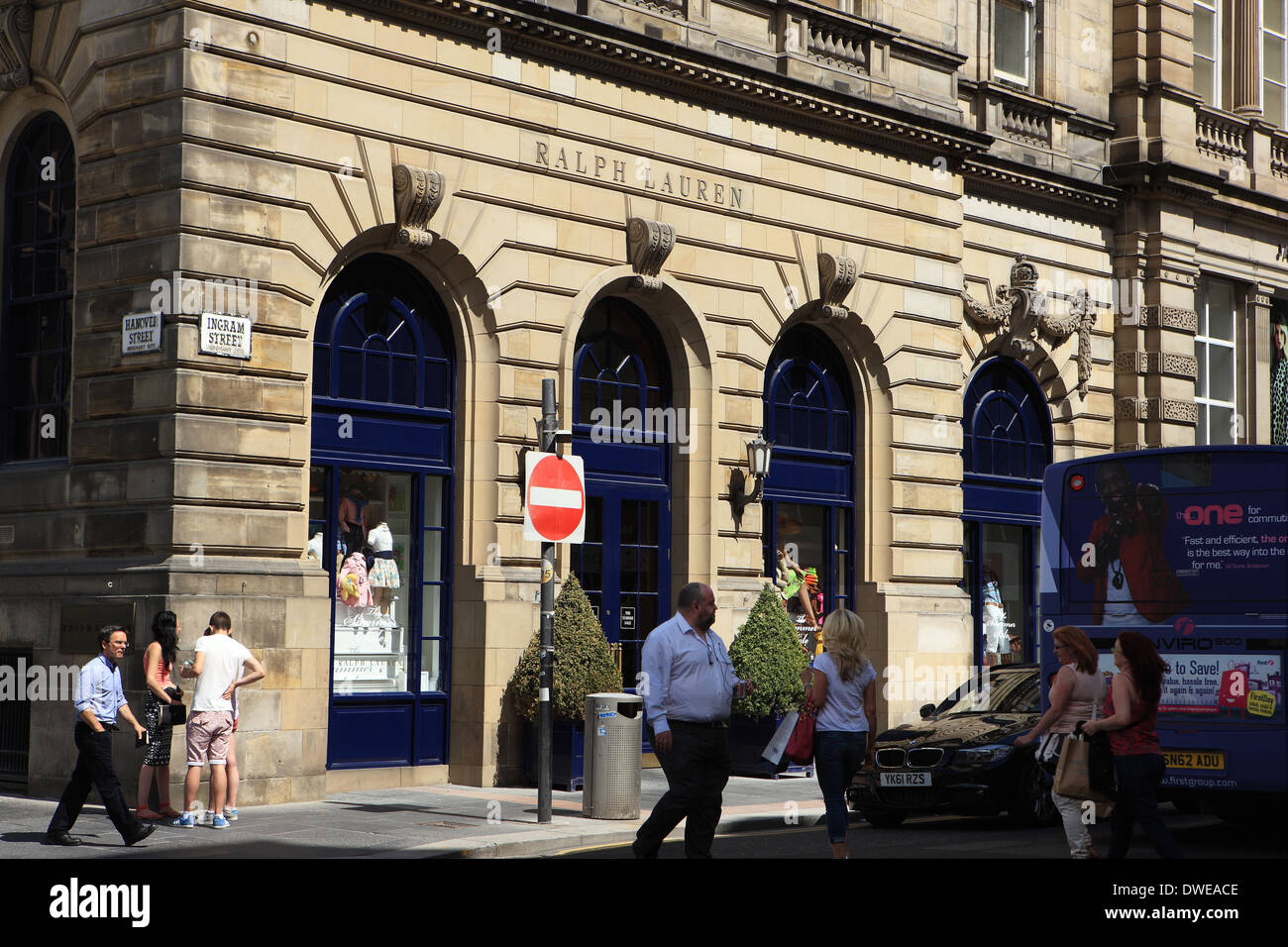 Ralph Lauren shop in Glasgow Scotland - Stock Image