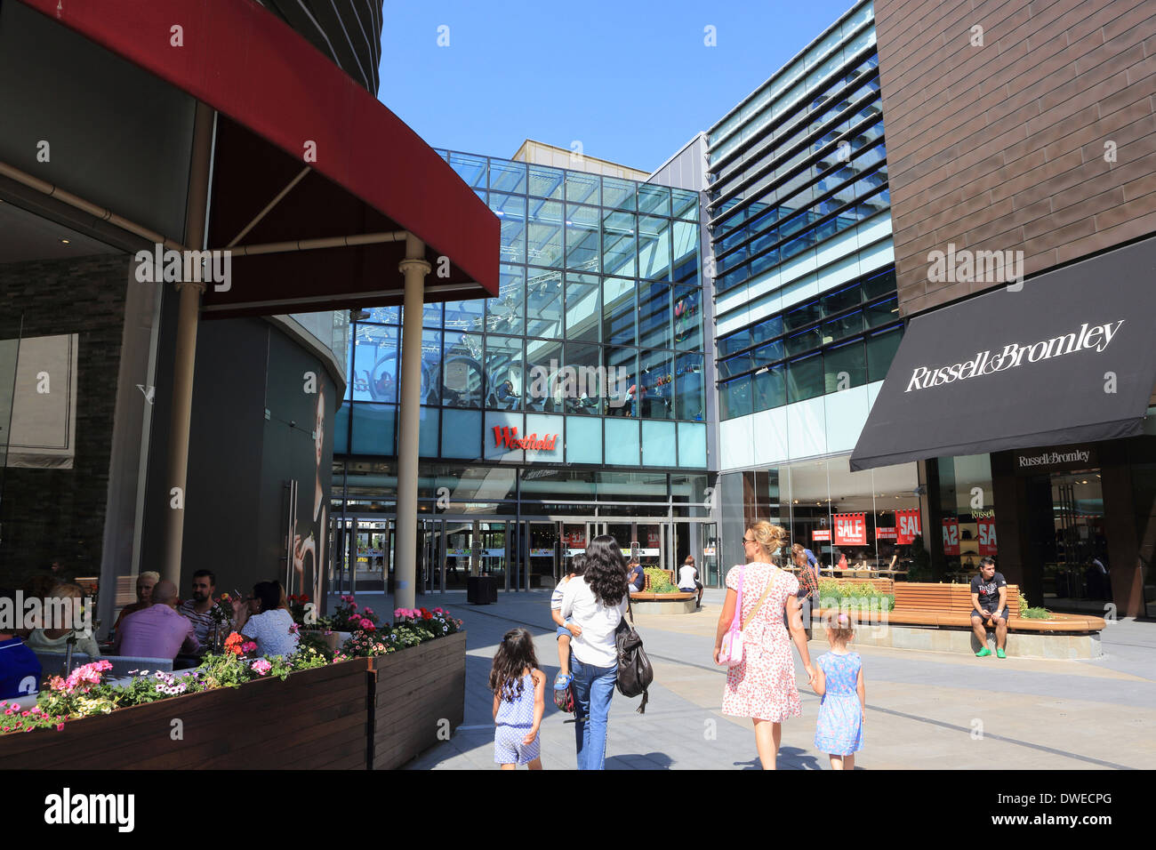 Westfield shopping centre in Stratford, East London E20, England, UK Stock Photo