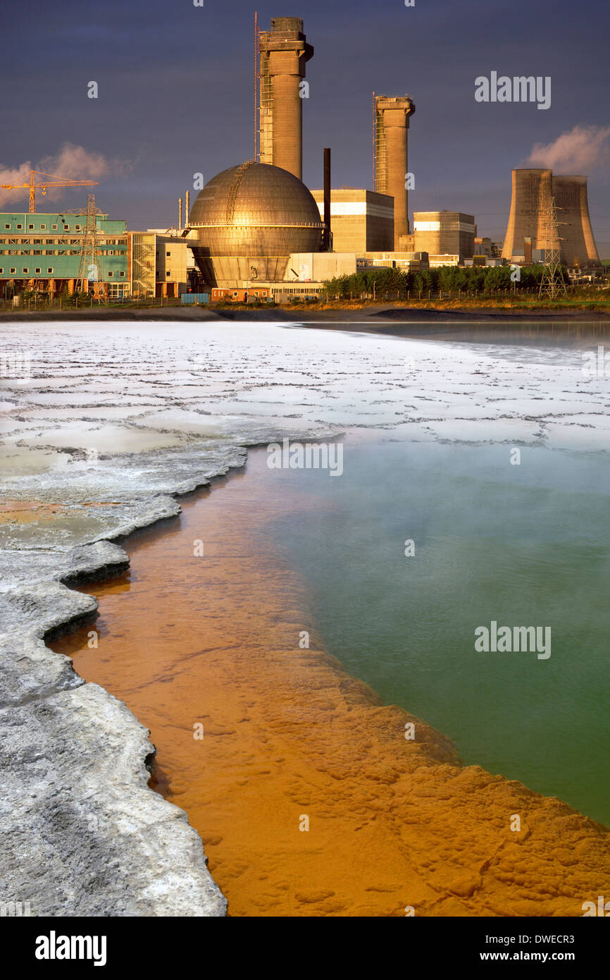 Industrial Pollution and Sellafield Nuclear Reprocessing Plant - Stock Image