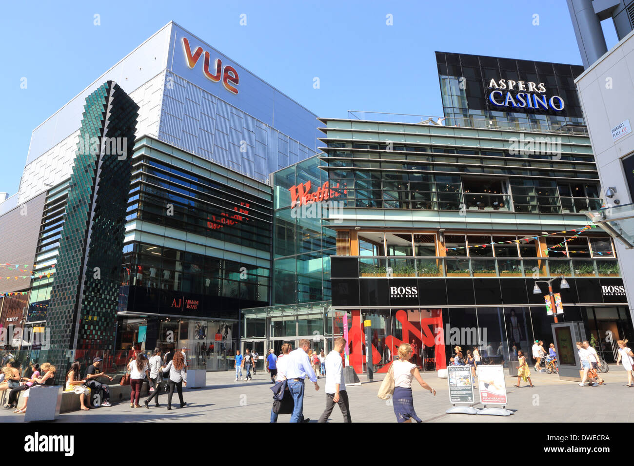 Westfield shopping centre in Stratford, East London E20, England, UK - Stock Image