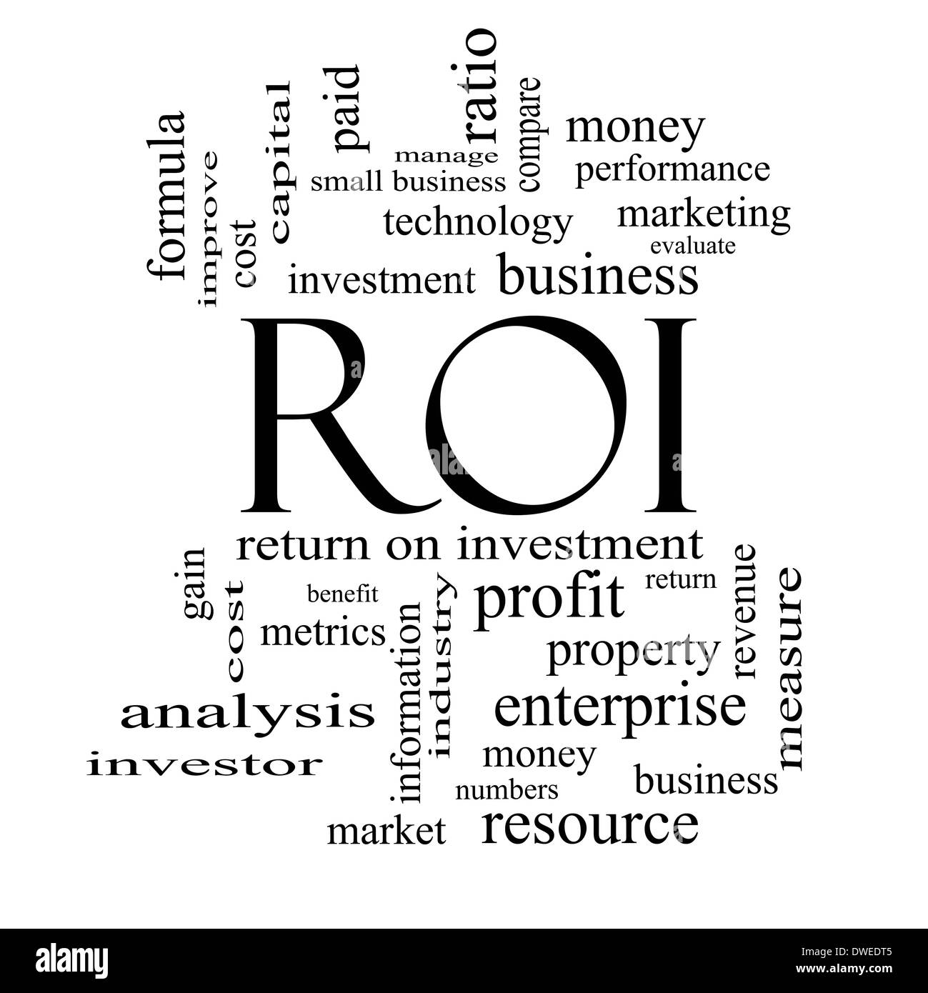 Roi Return Investment Black and White Stock Photos & Images