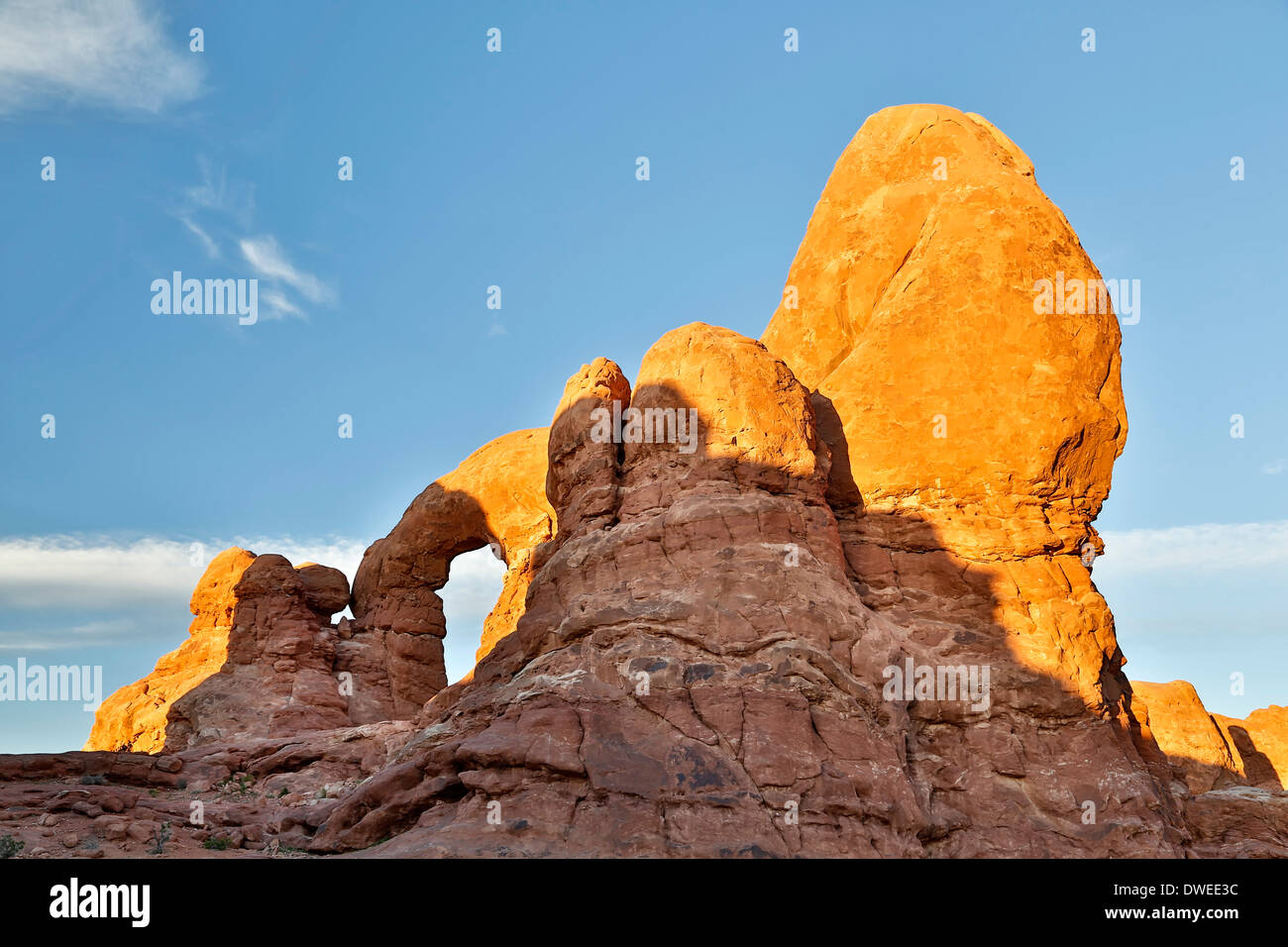 Turret Arch, Arches National Park, Moab, Utah USA - Stock Image