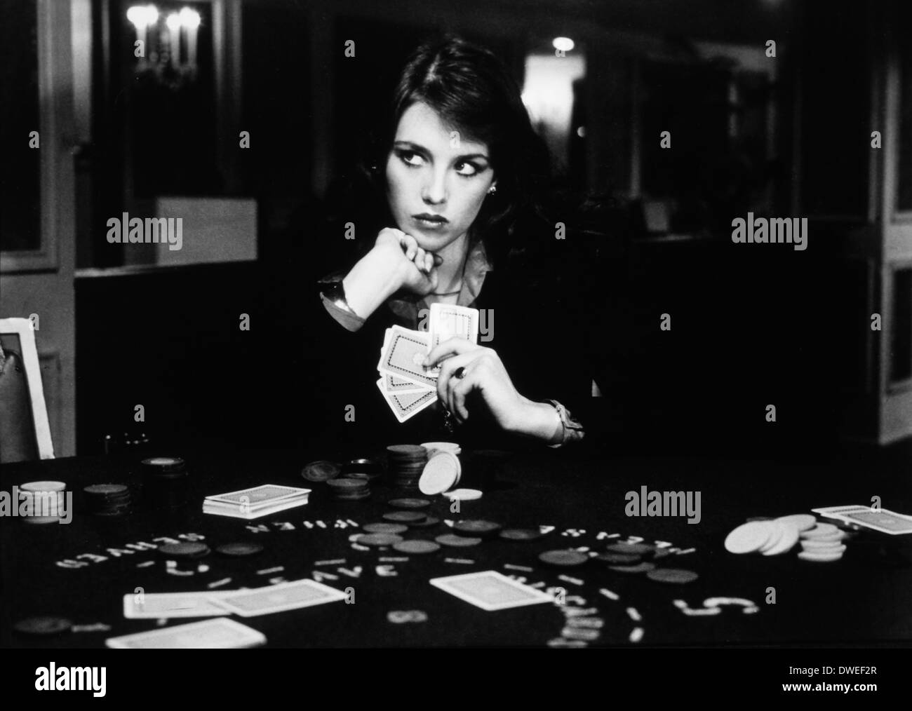 Isabelle Adjani, on-set of the Film, 'The Driver', 1978 - Stock Image