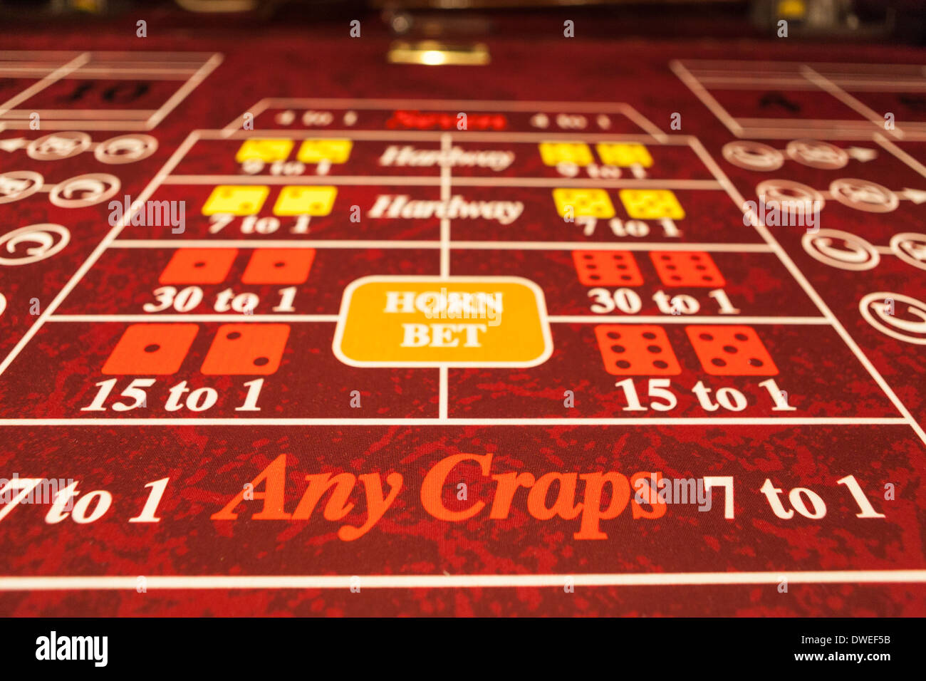 Gambling Table - Stock Image
