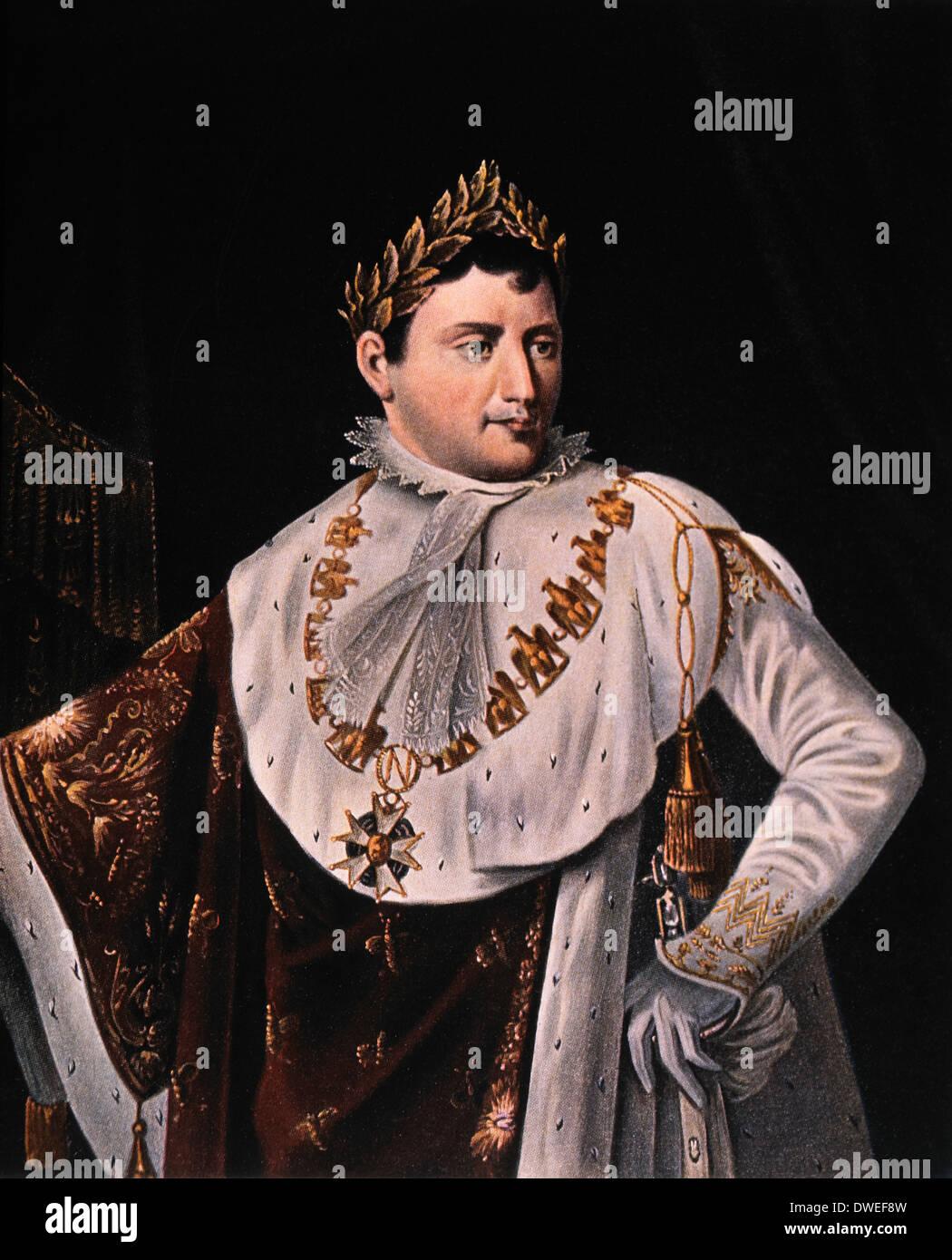 Napoleon Bonaparte (1769-1821), Emperor of France 1804-1814, Portrait - Stock Image