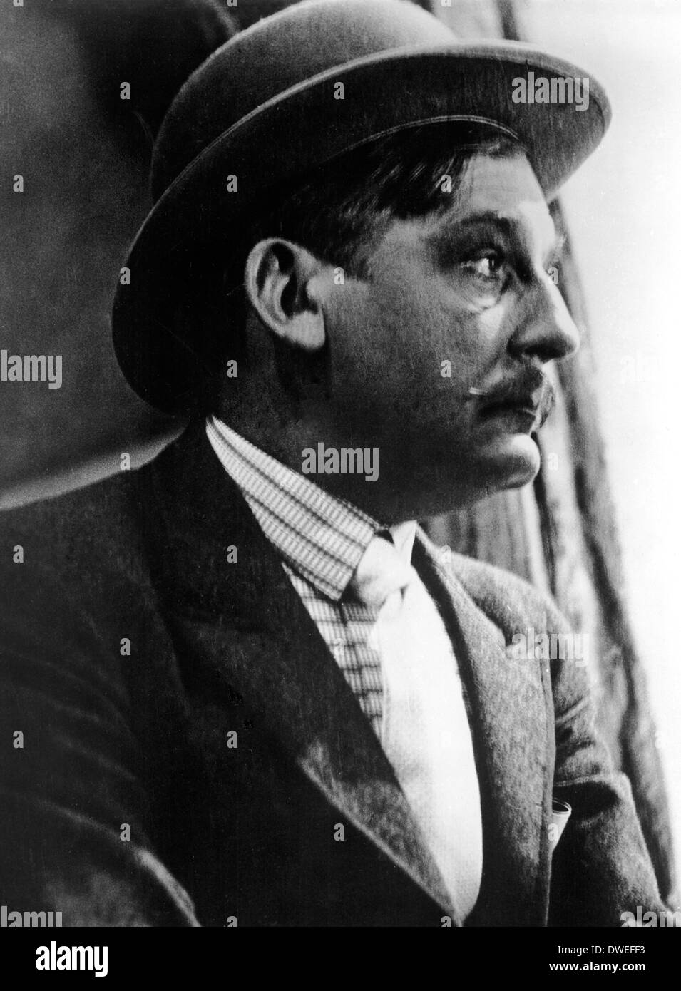 Rudolf Forster, on-set of the Film, 'The Threepenny Opera (Die Dreigroschenoper)' Directed by  G. W. Pabst, 1931 - Stock Image