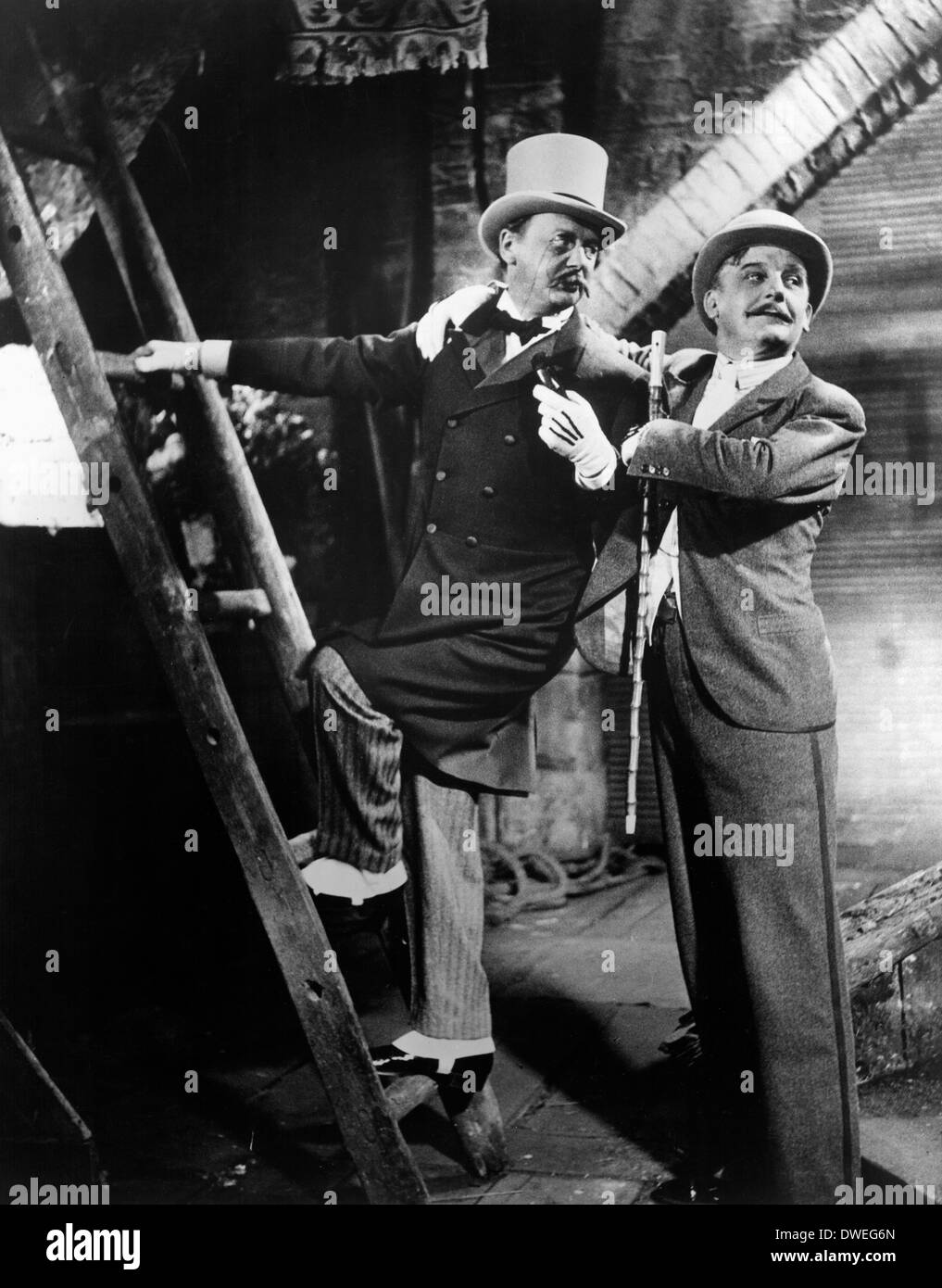 Reinhold Schunzel, and Rudolf Forster, on-set of the Film, 'The Threepenny Opera' Directed by  G. W. Pabst, 1931 - Stock Image