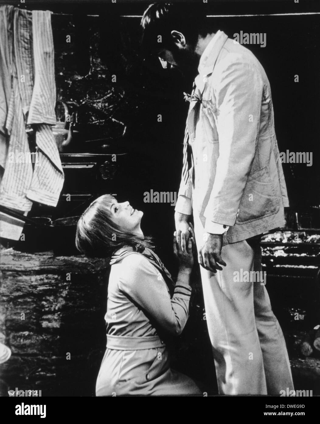 Glenda Jackson and Alan Bates, on-set of the Film, 'Women in Love', 1970 - Stock Image