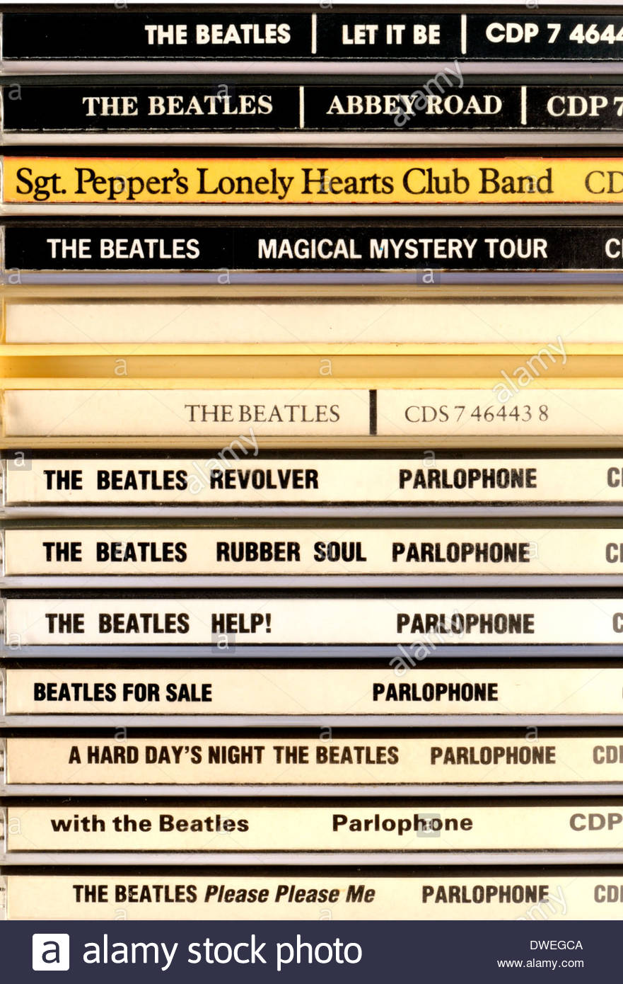 CDs of Beatles studio albums - Stock Image